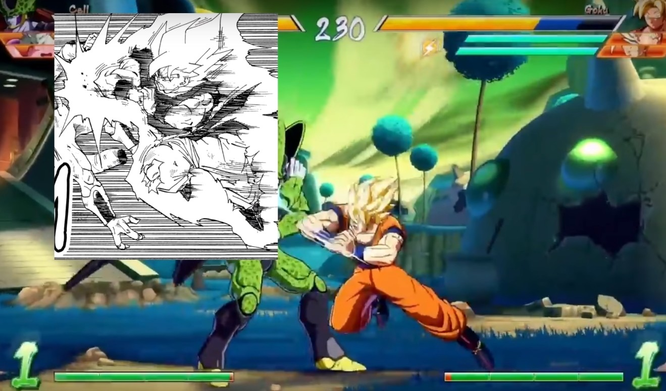 Dragon Ball FighterZ aquí vemos el nivel de detalle